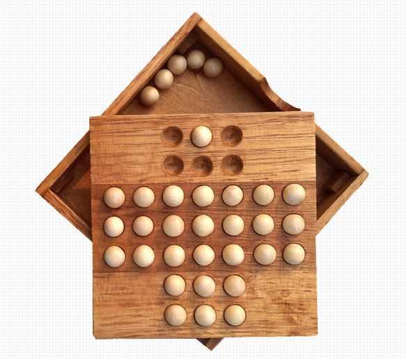 juego de madera damas chinas caja bolas tablero