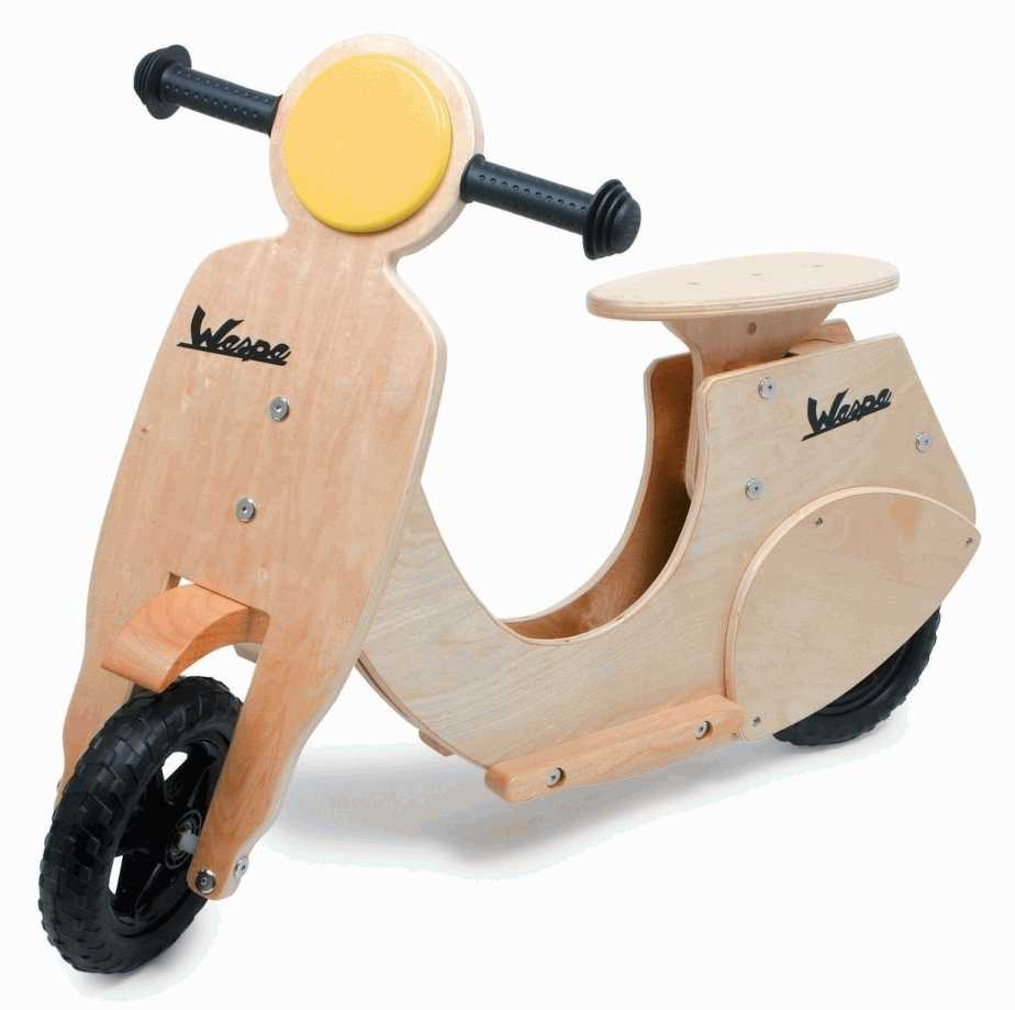 modelo de madera moto vespa escritorio adorno