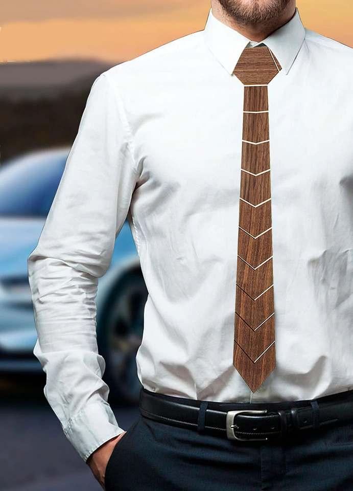 corbata de madera