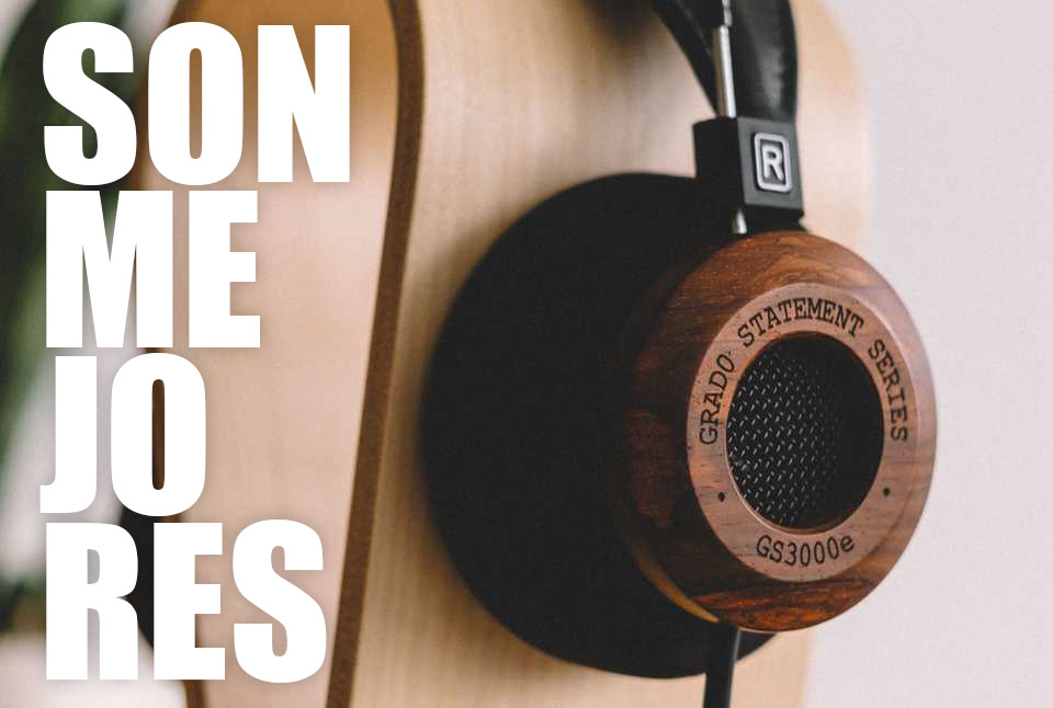 auricular de madera base almoadilla goma sonido unico mejores