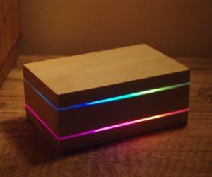 caja luminosa de madera