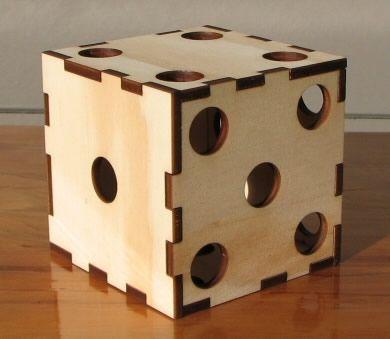 caja para ensamblar diseno dados