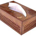 caja servilletero madera
