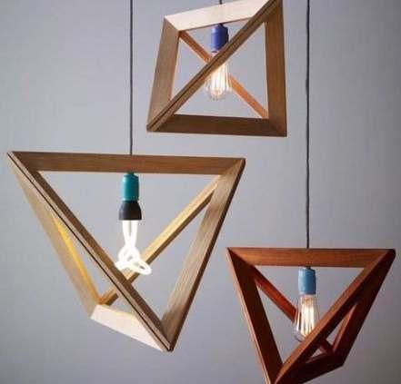 geometricas lamparas modernas triangulares