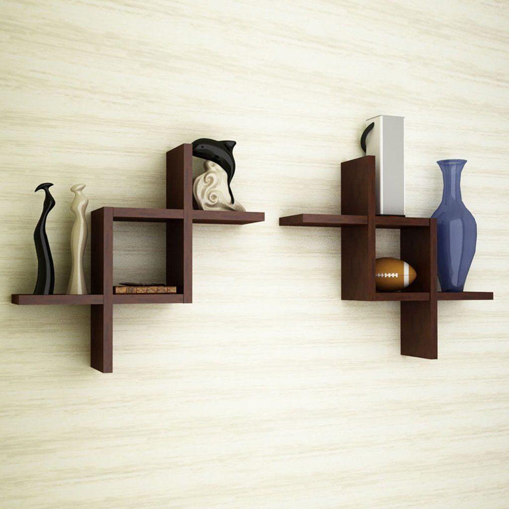 Ideas para estantes geometricos madera estructura