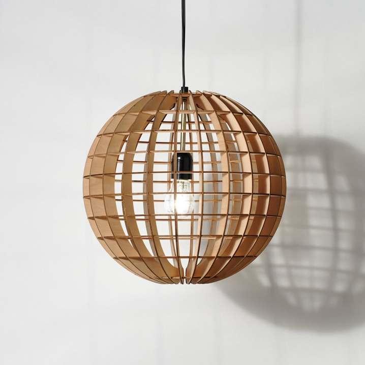 lampara colgante de madera