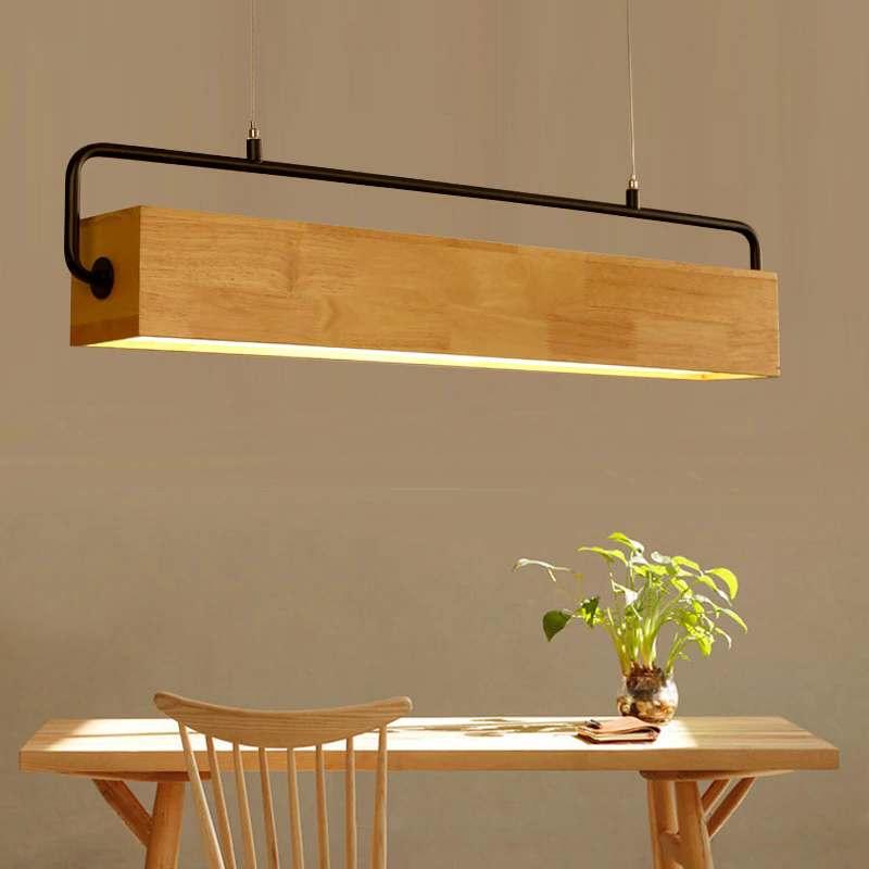 lampara de madera colgante moderna