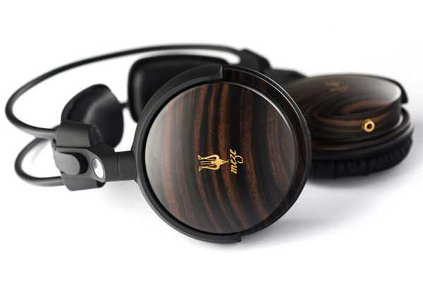 marron oscuro negro madera auriculares audifonos supra aurales