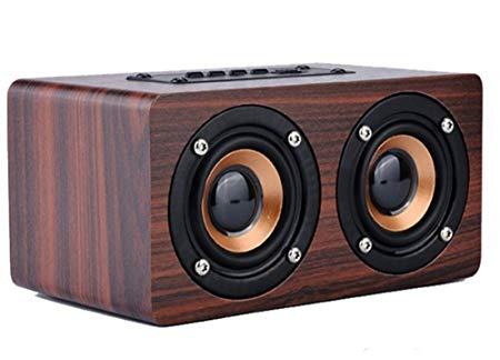 sistema parlantes madera altavoz calidad audio