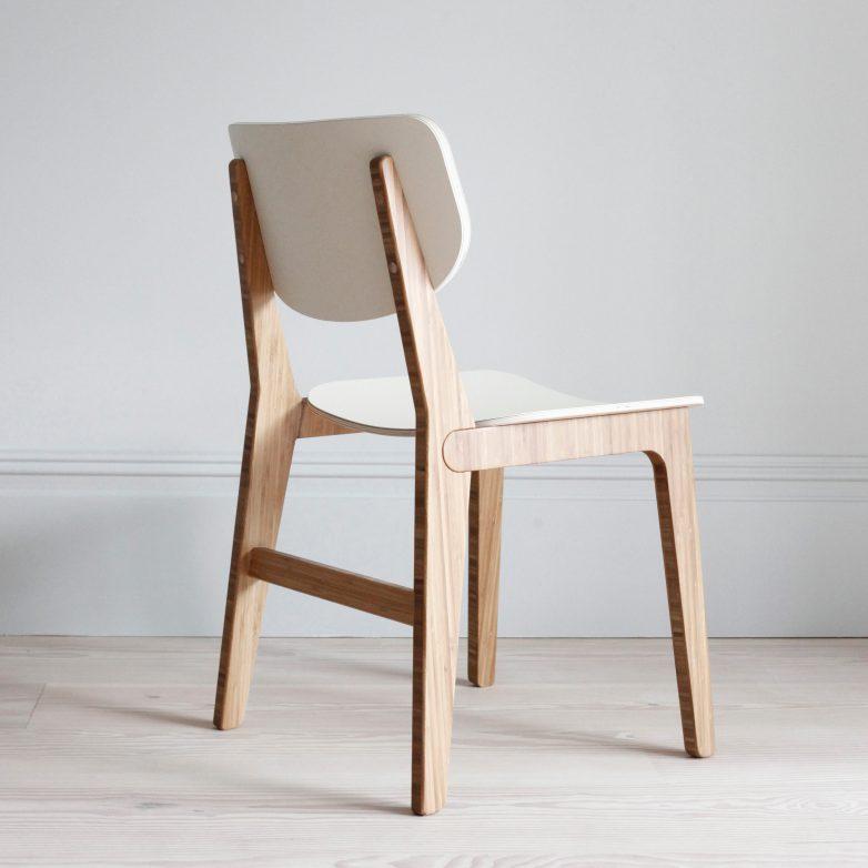 minimalista y contemporanea silla de madera elegante comedor