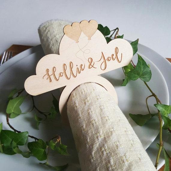 personalizados de madera servilleteros para bodas