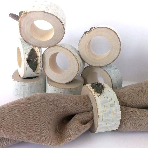 servilletas servilletero rustico madera tronco circular natural 1