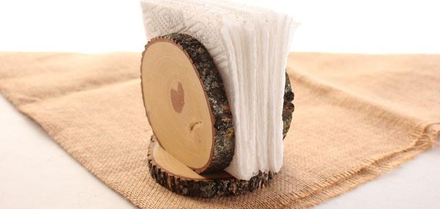 servilletero pequeno madera corteza de arbol