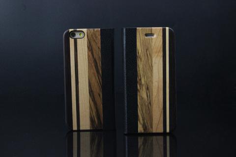 elegante case para telefono simulacion madera