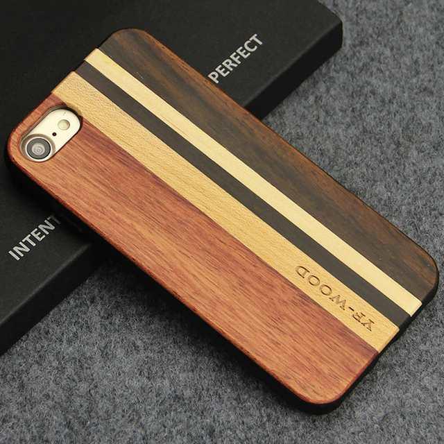 lujosa funda de madera para iphone