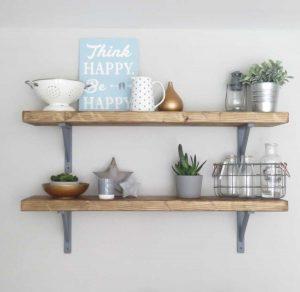 repisas estantes madera soporte simple