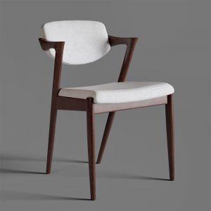 silla de madera moderna simple asiento acolchado