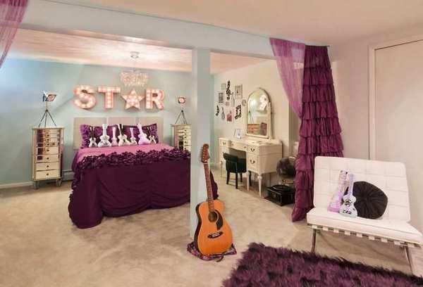 Habitacion de estrella del rock para una chica