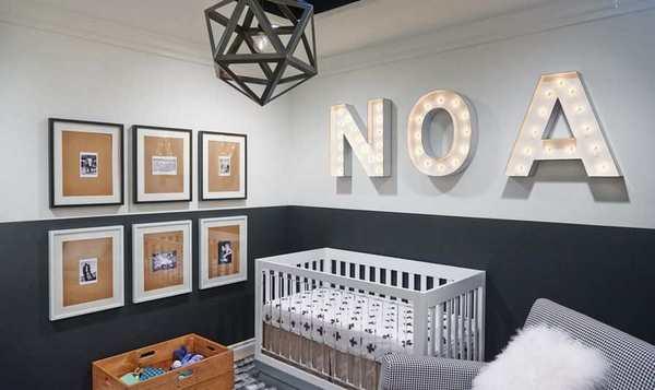 Habitacion infantil moderna NOA con acentos grises