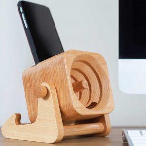 amplificador madera celular parlante cuna
