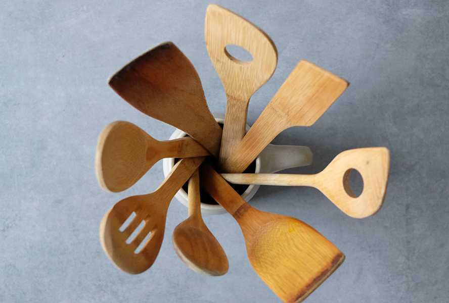 coleccion utensilios de madera cocina