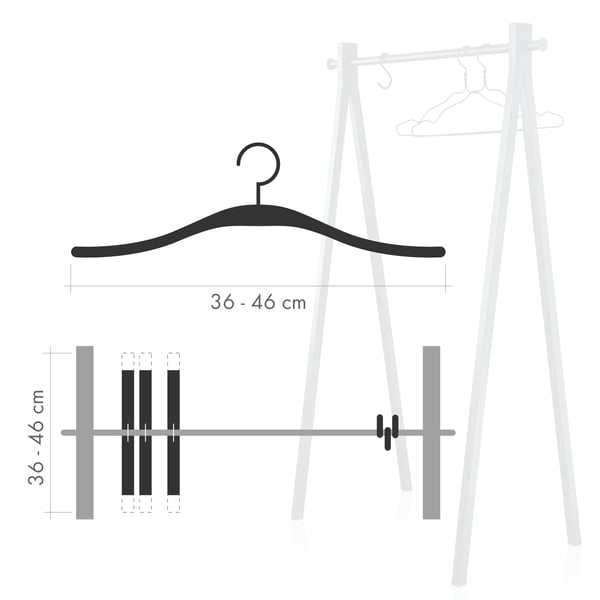 dimensiones perchas colgadores de ropa