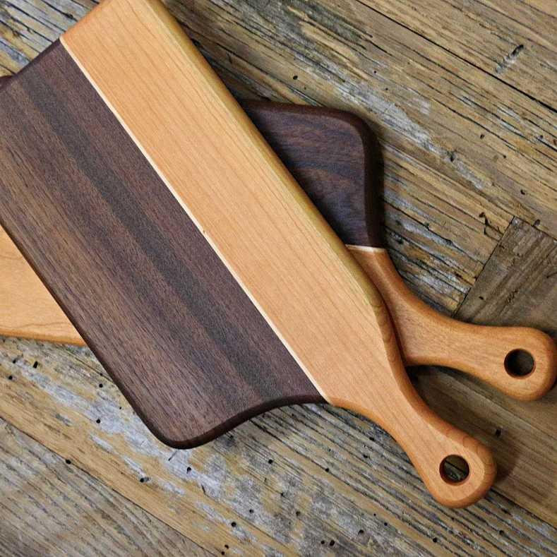 gemelas tablas de cortar cocina madera