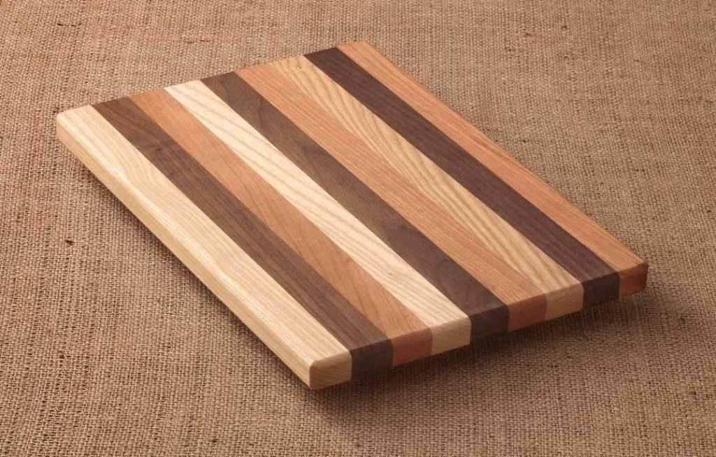 tabla de cortar lineas madera