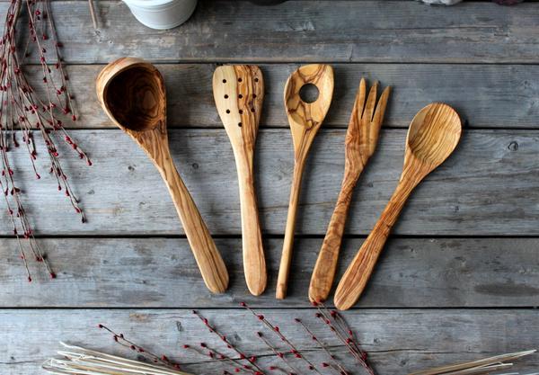 utensilios cucharas madera paletas
