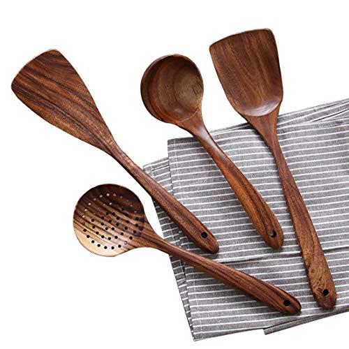 utensilios para cocina sarten madera escurridor