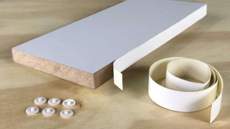 tabla de melamina con tapacanto